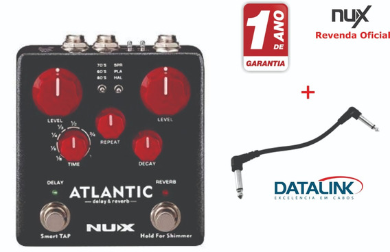 Pedal Nux Atlantic Delay & Reverb Ndr5 + Cabo Pedal