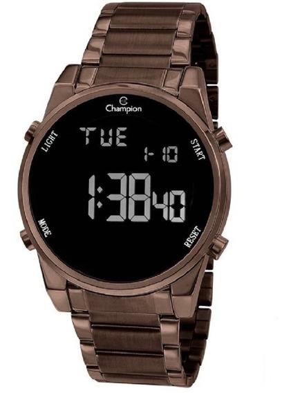 Relógio Champion Unissex Digital Ch40071r Marrom Negativo