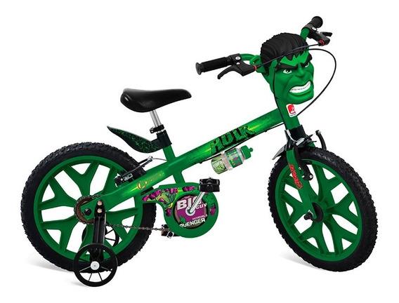 Bicicleta X-bike Aro 16 - The Avengers - Hulk - Bandeirante