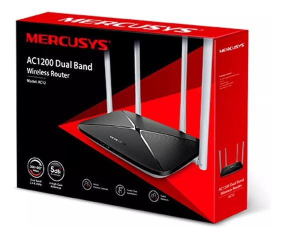 Router Inalambrico Mercusys Ac1200 Ac12 4 Antenas Dual Band