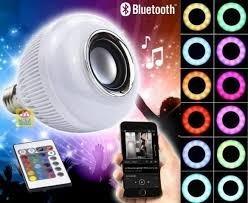 Caixa De Som, Lâmpada Bluetooth Led Função Boate C\ Controle