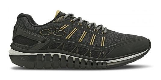 Tenis Olympikus Action 596 Preto Dourado Calçados Bola7