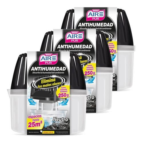 Antihumedad Neutro Sin Perfume Aire Pur Set Pack 3un
