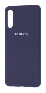 Funda Silicona Silicone Case Samsung A10 A20 A30 A50 A70 + Vidrio Full 6d