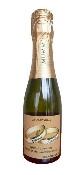 Souvenir Champagne Mumm 187 Ml Personalizado 65 Unidades