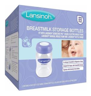 Botellas Para Almacenar Leche Materna Lansinoh 4 Piezas