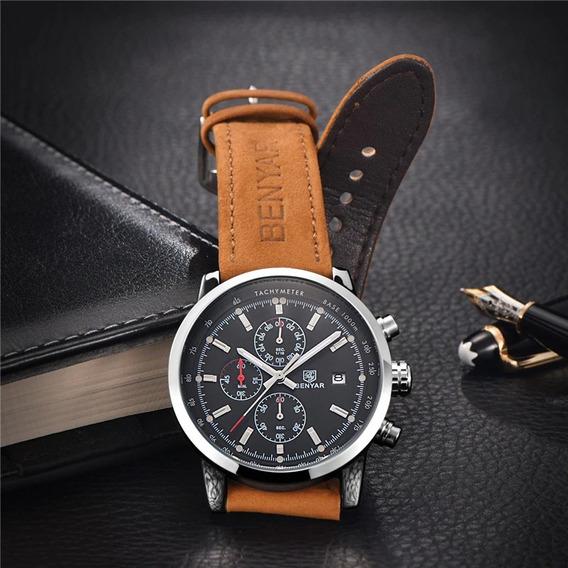 Relógio Masculino Benyar Jaragua De Luxo Original Top
