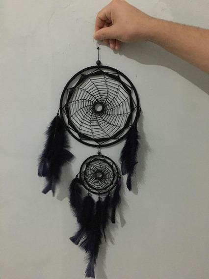 Filtro Dos Sonhos Croche Mandala Colorida Combo Com Chaveiro
