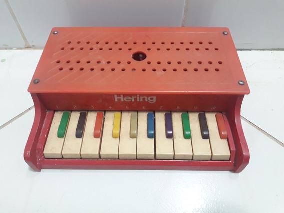 Piano De Brinquedo Antigo Pequeno Funcionando