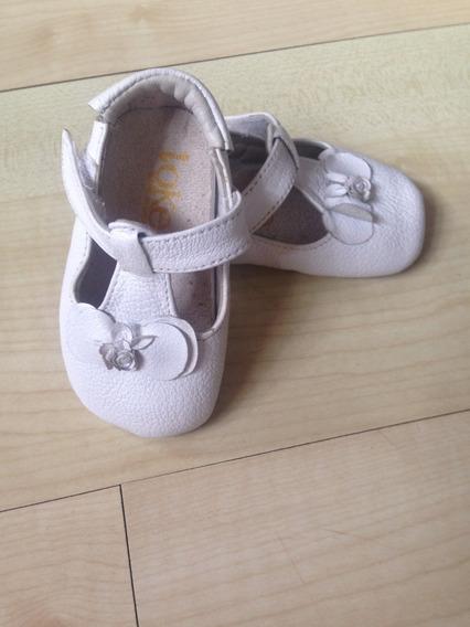 Sapato Infantil Menina Bebe Couro Marca Toke