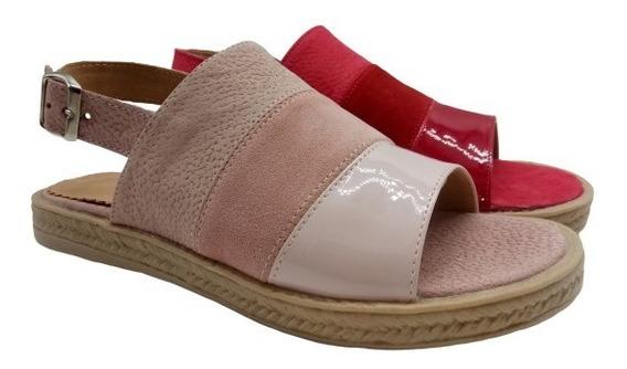 Sandalias Baja Faja Cuero Zapatos Mujer Moda Verano 062