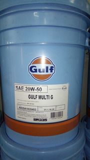 Aceite Lubricante 20w50 Gulf Balde 20 Litros