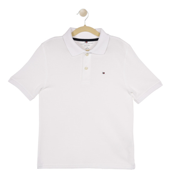 Polo Regular Fit Tommy Blanco C517173418-112 Niño
