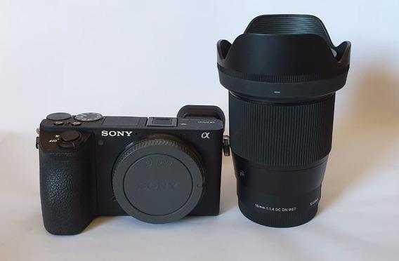 Sony A6500 + Lente Sigma 16mm F/1.4 Dc Dn Sony E-mount