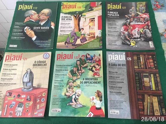 * Lote Com 19 Revistas Piauí - Perfeito Estado *