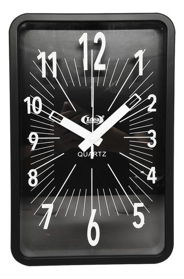 Relógio De Parede Preto Quadrado
