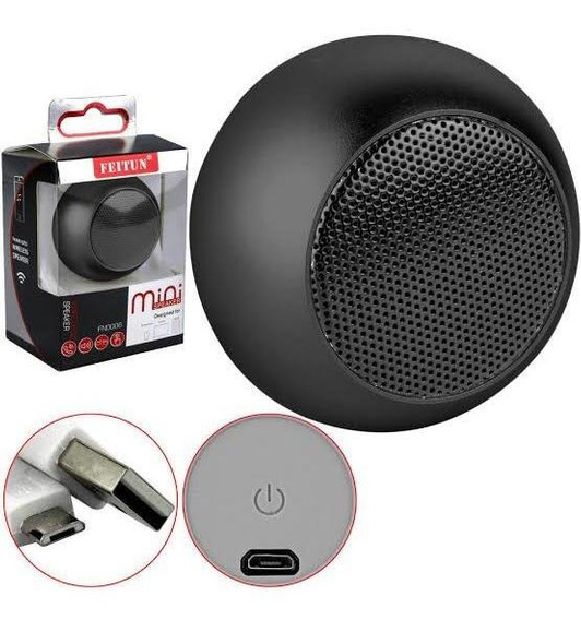 Caixa De Som Bluetooth Mini Speaker Feitun 3w Preto