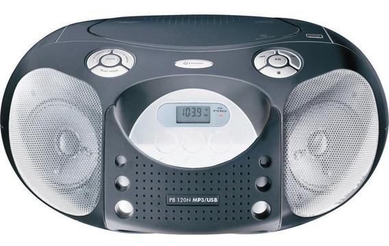 Rádio Boombox Pb120n Cd,usb,mp3, Cinza/prata, 4w Rms-philco