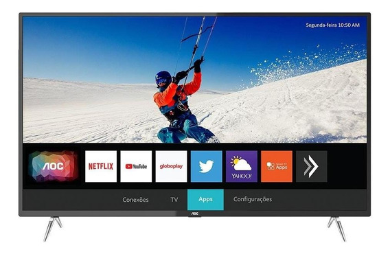 Smart Tv Led Aoc 50 50u6295/78g 4k Com Wi-fi, 2 Usb, 3 Hdmi E 60 Hz