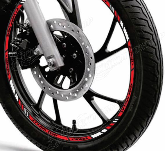 Friso Adesivo Refletivo Roda Tuning M1 Moto Honda Titan 160