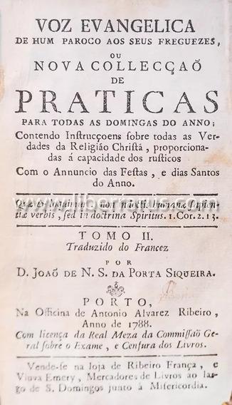 Livro Antigo Raro - Voz Evangelica 1788