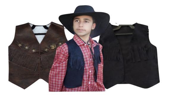 Colete Country Infantil Cowboy Menino Festa Junina Rodeio