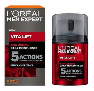 Crema Hidratante Loreal Men Expert Vita Lift 5 Acciones 50 M