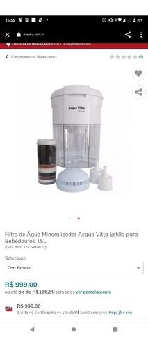 Filtro De Água Mineralizador Acqua Vitta Estillo 200 Leva