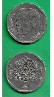 Grr-moneda De Marruecos 2 Dirhams 2002 - Rey Mohammed V I