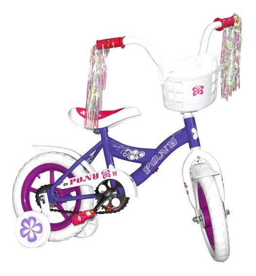 Bicicleta Niña Rodada 12 Ruedas Entrenadoras Infantil
