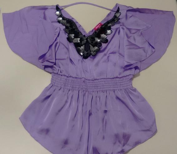 Blusa Mexicana Violeta Mujer Importado