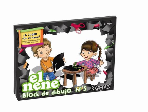 Block Dibujo N°5 El Nene X 24 Hojas Color Negro