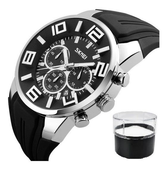 Relógio Skmei 9128 Original Com Estojo Nota Fiscal Promoção