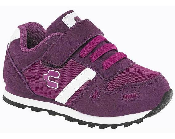 Tenis Charly Niña 1062015 Color Fiusha Talla 18-21 -shoes