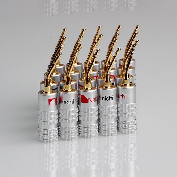 4 Plugs Banana Nakamichi Pino 2mm Receivers Caixas Acústicas