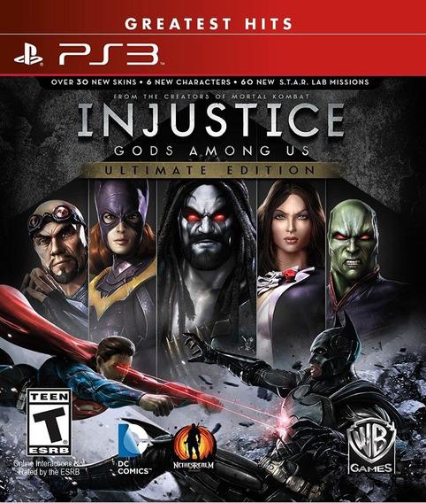 Ps3 Injustice Gods Among Us Ultimate Ed. Lacrado + Frete G.!