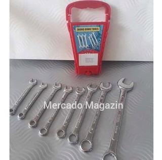 2 Kits De Jogo De Chave Boca Aço 8 Peças 6 A 17 Mm Oferta