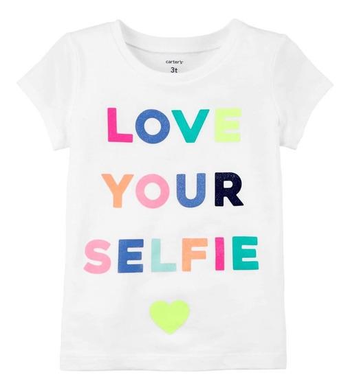 Carters Camisa Regata Menina Love Your Selfie Verão