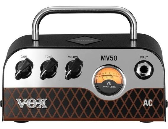 Cabeçote Vox Valvulado 50w Mv50 Ac Clean Pré Nutube