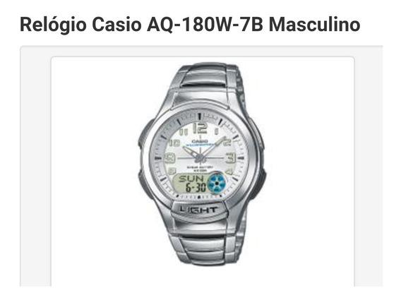 Relógio Casio Aq-180w-7b Masculino