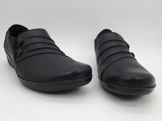 Clarks Everlay Romy Zapatos De Piel Negro Talla 26.5 Mex