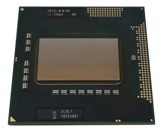 Processador Intel Core i7-720QM BY80607002907AH de 4 núcleos e 2.8GHz de frequência