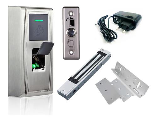 Imagen 1 de 9 de Combo Control De Acceso Biométrico Bluetooth Ma300bt Zkteco