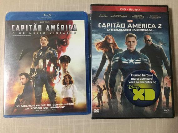 Filmes Capitão América 1 E 2 Blu Ray Lacrado