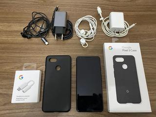 Pixel 3 64gb Preto Completo + Turbo Motorola + Fone Xiaomi