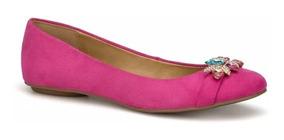 Zapato Flat Ballerina Dama Rosa Fiusha Andrea 2424262