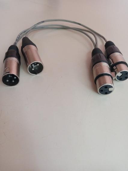 Adaptador Y Duplo. Plug Xlr 3 Pinos.