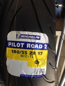 Pneu Pilot Road 2 180/55-17 Hornet, Srad 750 Frete Gratis