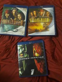 Homem Aranha, Piratas Do Caribe Blu-ray Disc 3 Por 75,00