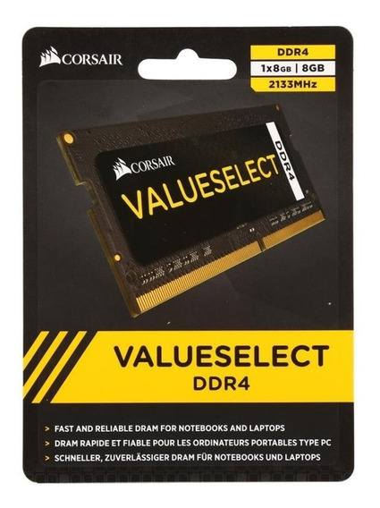 Memoria Ddr4 8gb Notebook 2133mhz Corsair Valueselect Novo